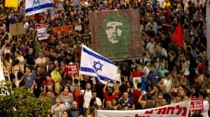 צ'ה גווארה מגיע לכיכר הבימה. ההפגנה אתמול